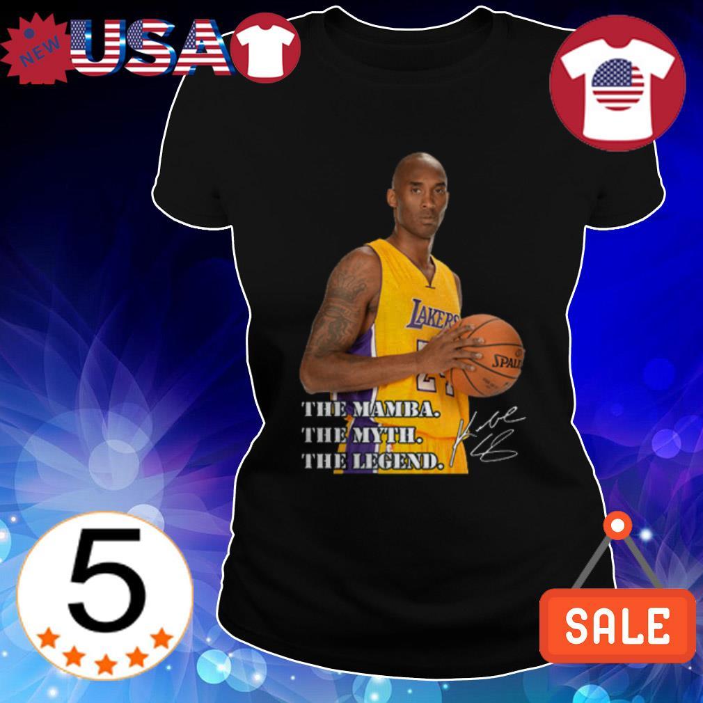 Rip Kobe Bryant Los Angeles Lakers The Mamba the myth the legend signature Ladies Tee