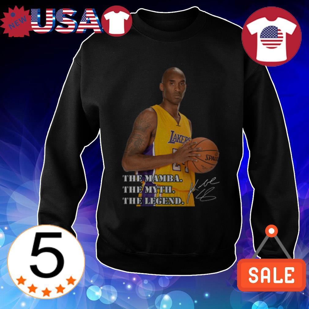 Rip Kobe Bryant Los Angeles Lakers The Mamba the myth the legend signature Sweater