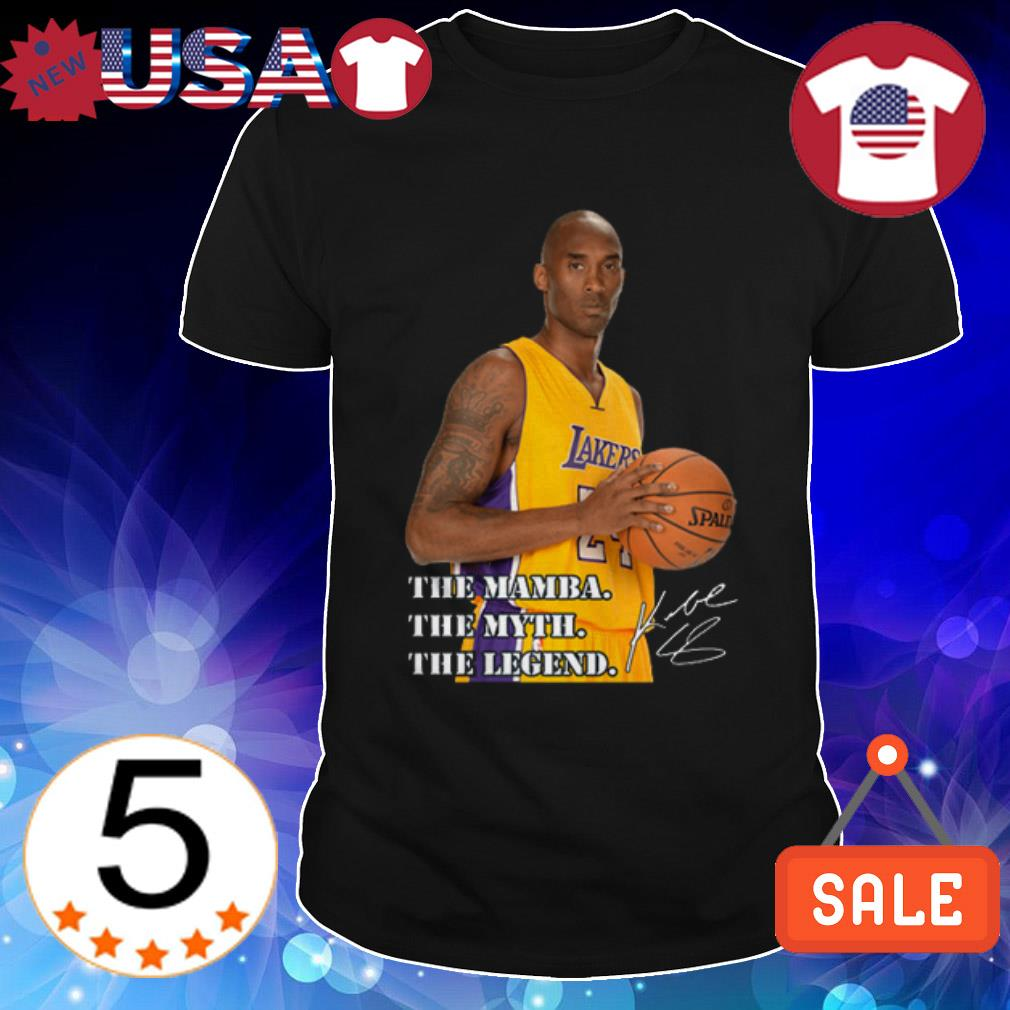 Rip Kobe Bryant Los Angeles Lakers The Mamba the myth the legend signature shirt
