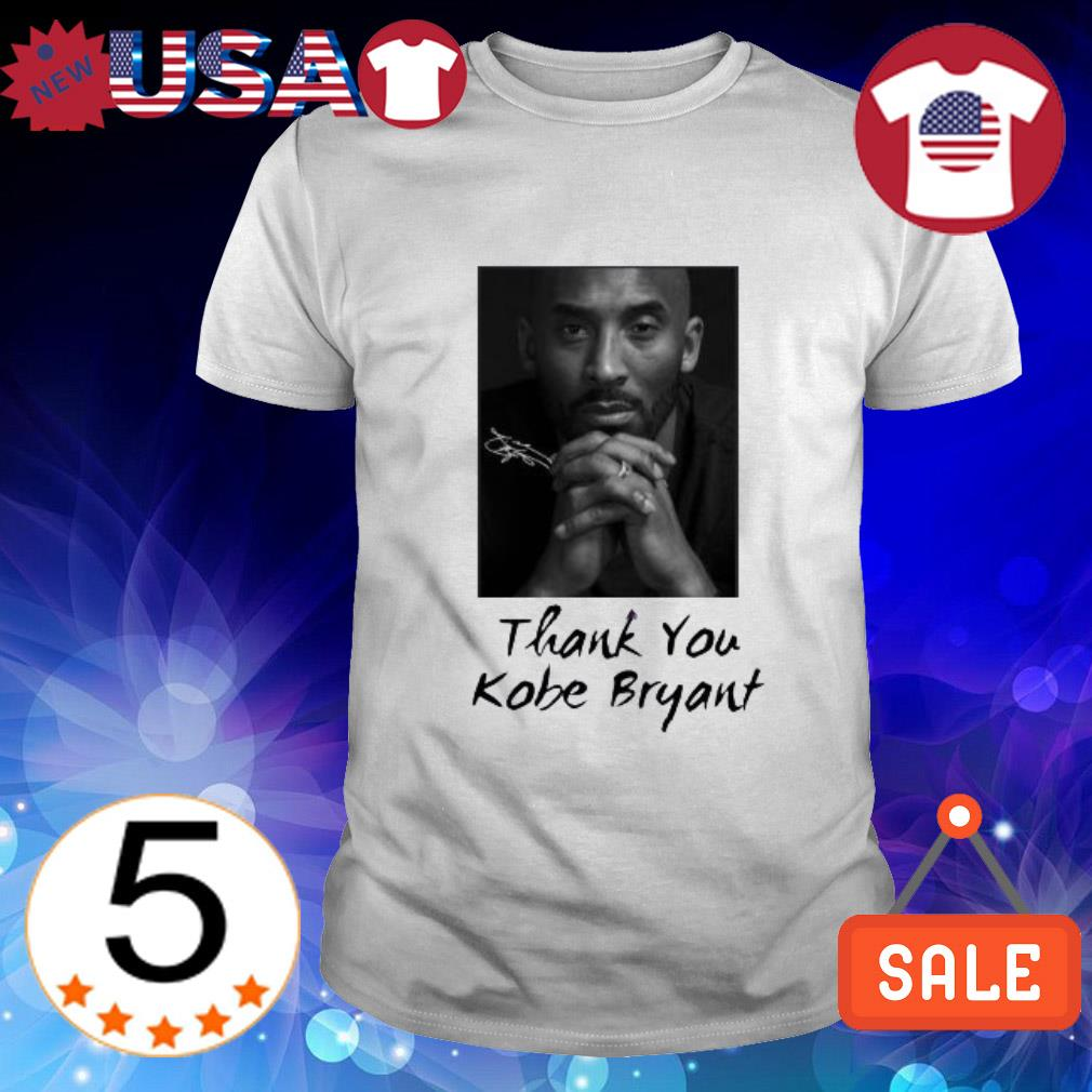 Thank you Rip Kobe Bryant signature shirt