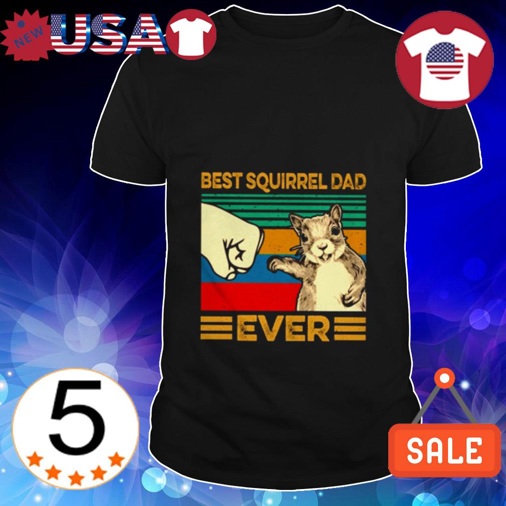Vintage Best Squirrel dad ever shirt