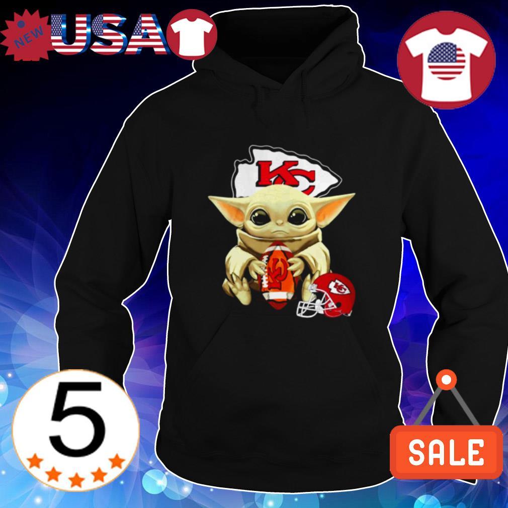 Baby Yoda hug ball Kansas City Chiefs shirt