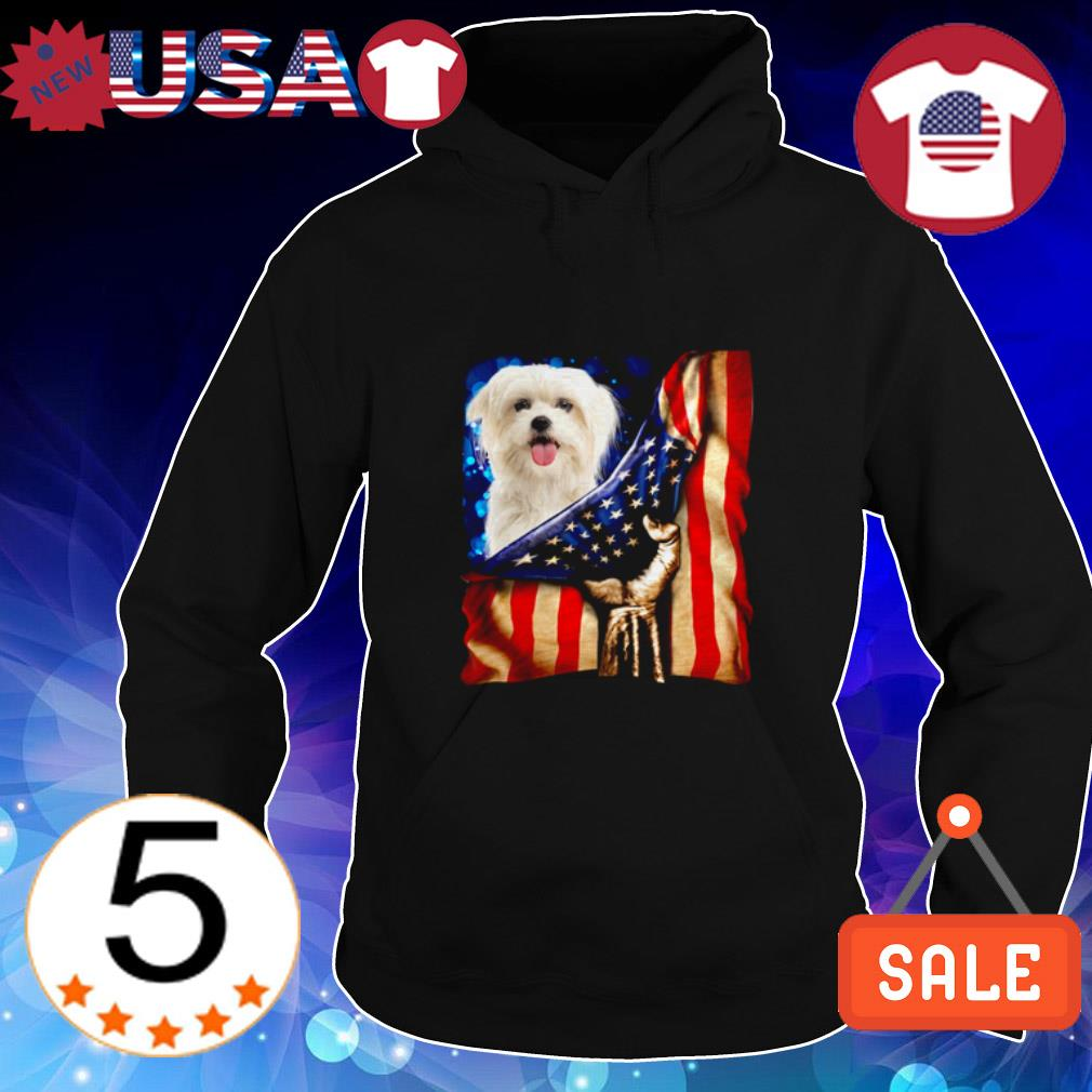4th of July independence day Maltese American shirt