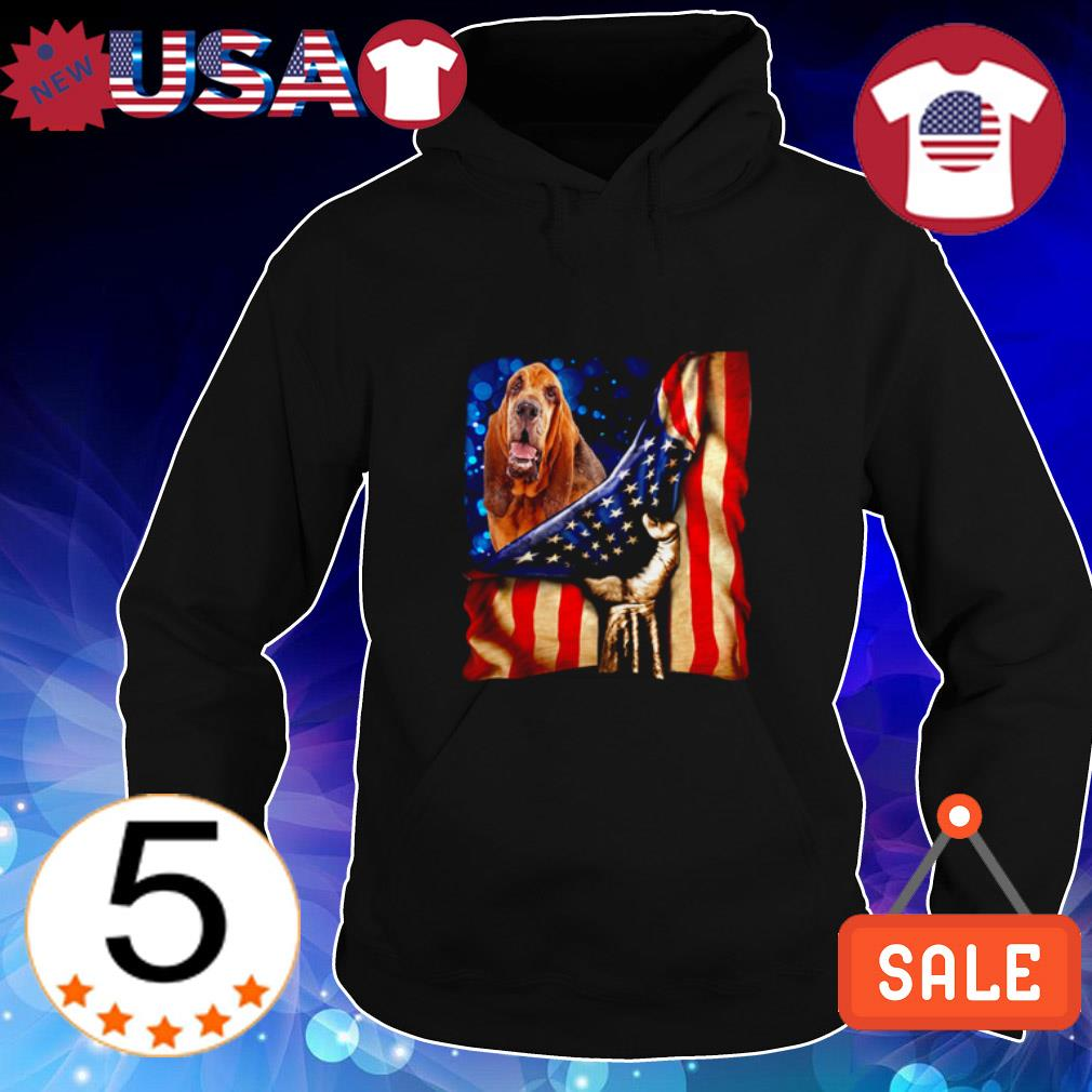 4th of July independence day Bloodhound American shirt