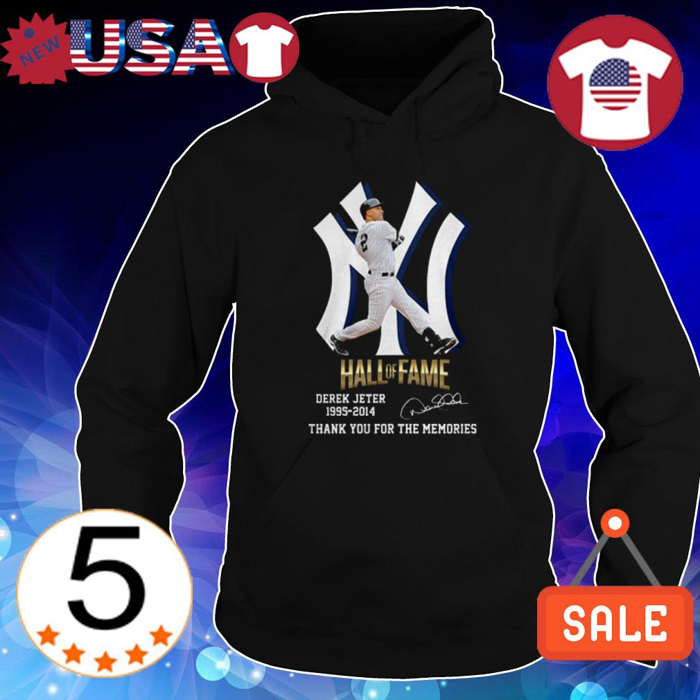 Derek Jeter 1995 2014 Hall Of Fame thank you for the memories signature shirt