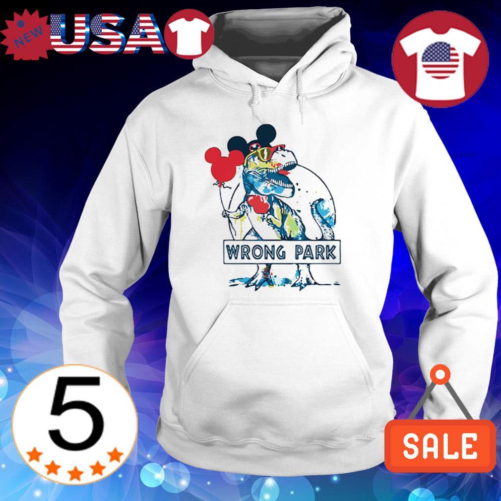 Dinosaur T Rex Mickey Mouse Ear wrong park shirt