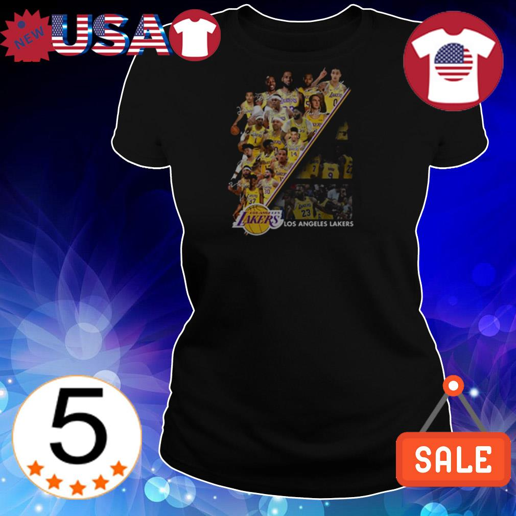 Los Angeles Lakers team players signatures shirt