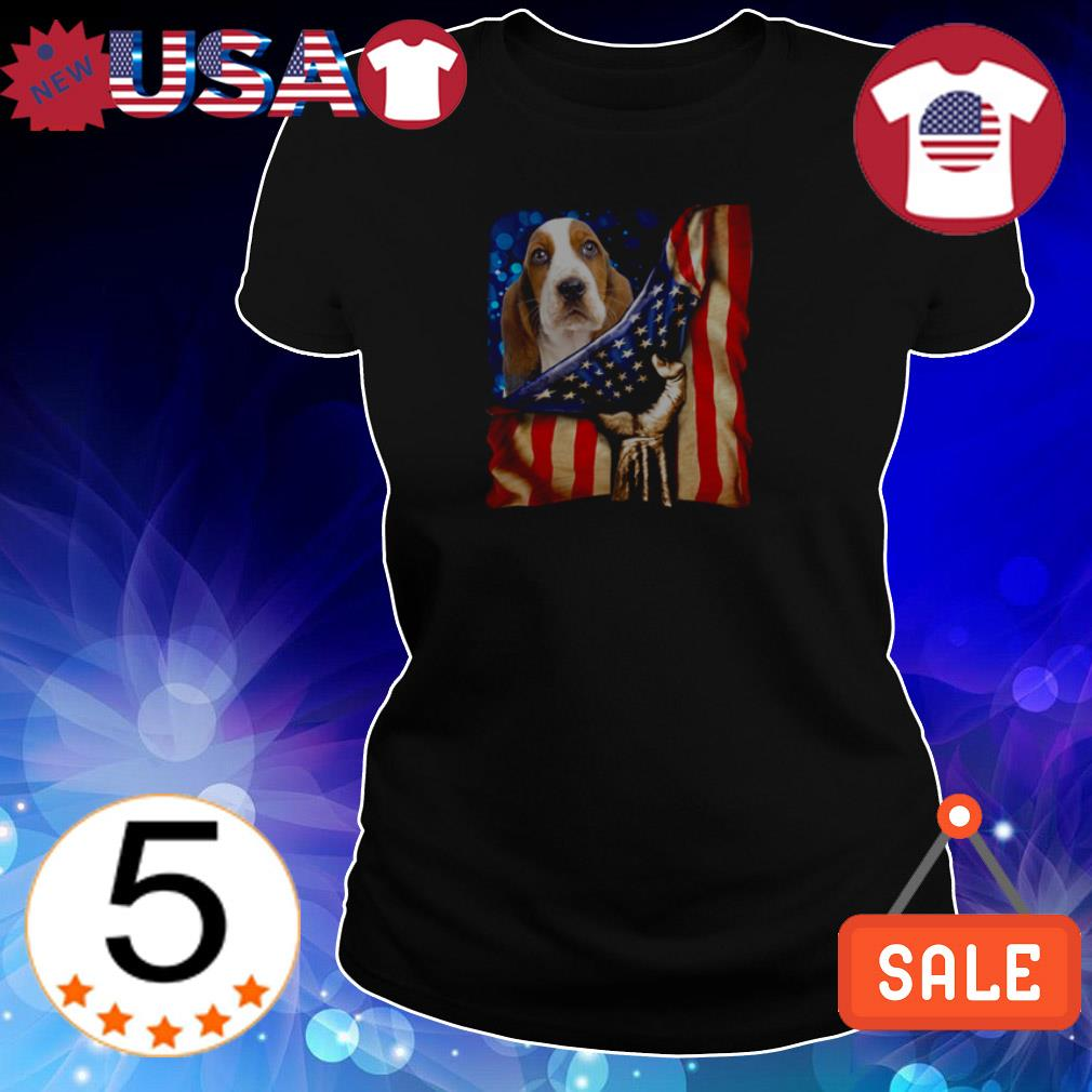 4th of July independence day Hound American shirt