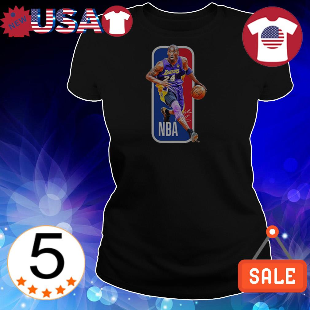 NBA 24 Los Angeles Lakers Kobe Bryant signature shirt