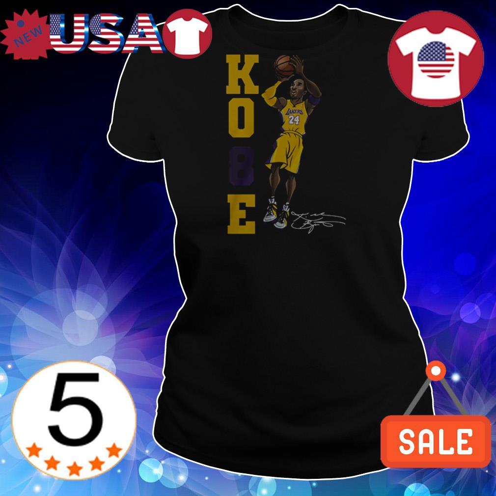 Kobe Bryant chibi character signature shirt
