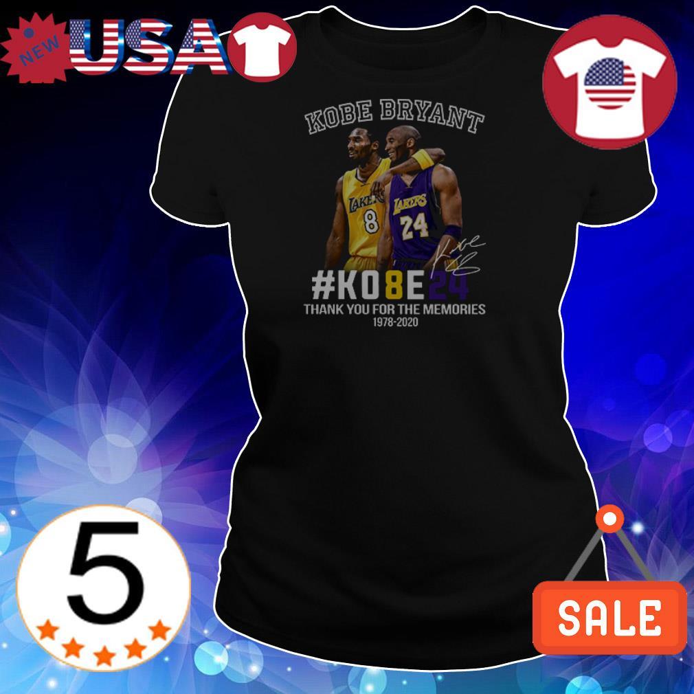 Kobe Bryant #KOBE24 thank you for the memories 1978 2020 signature shirt