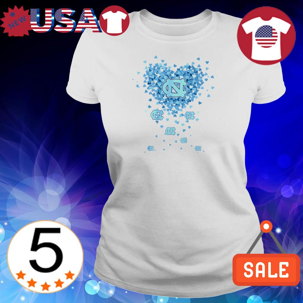North Carolina Tar Heels heart shirt