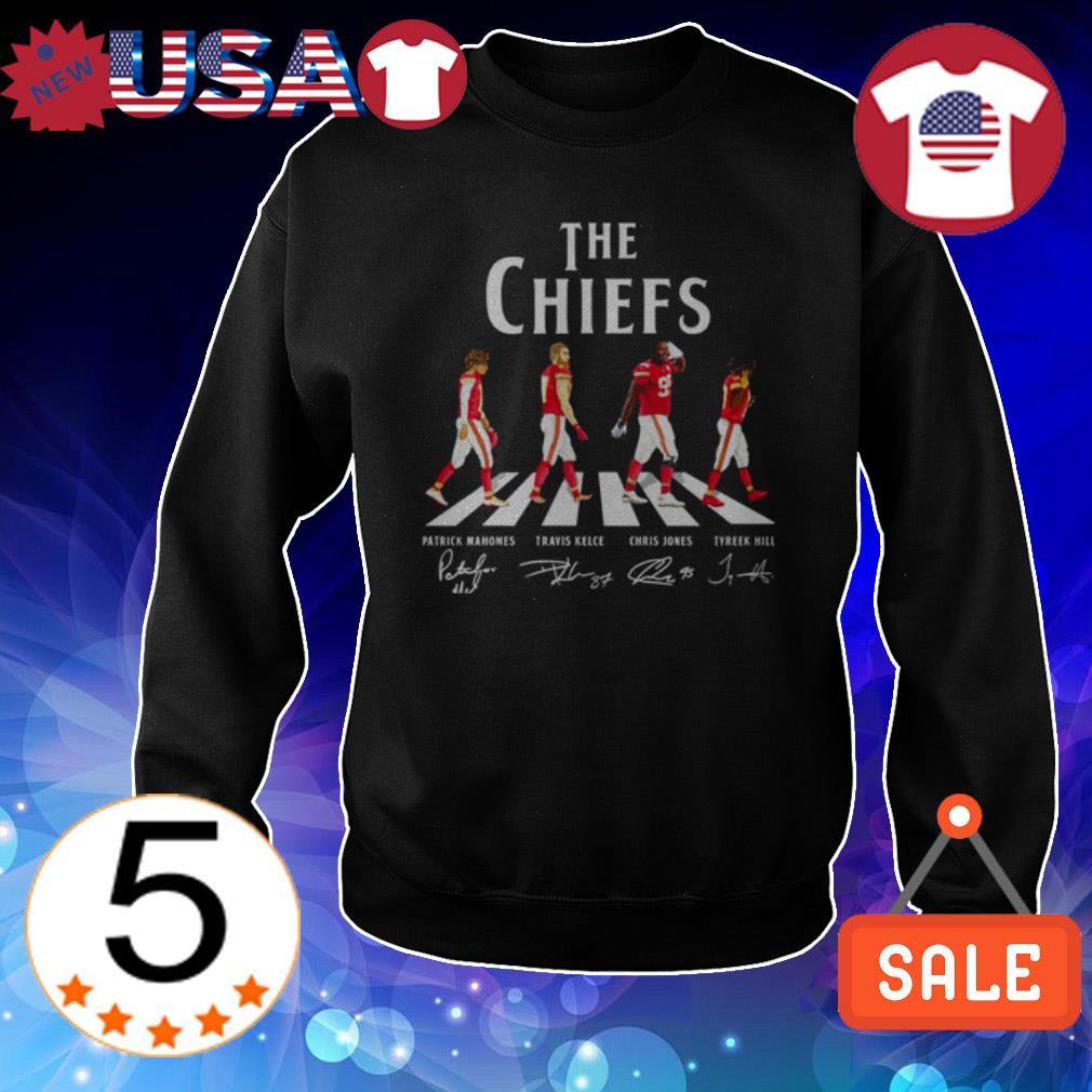 Kansas City Chiefs team players signatures shirt