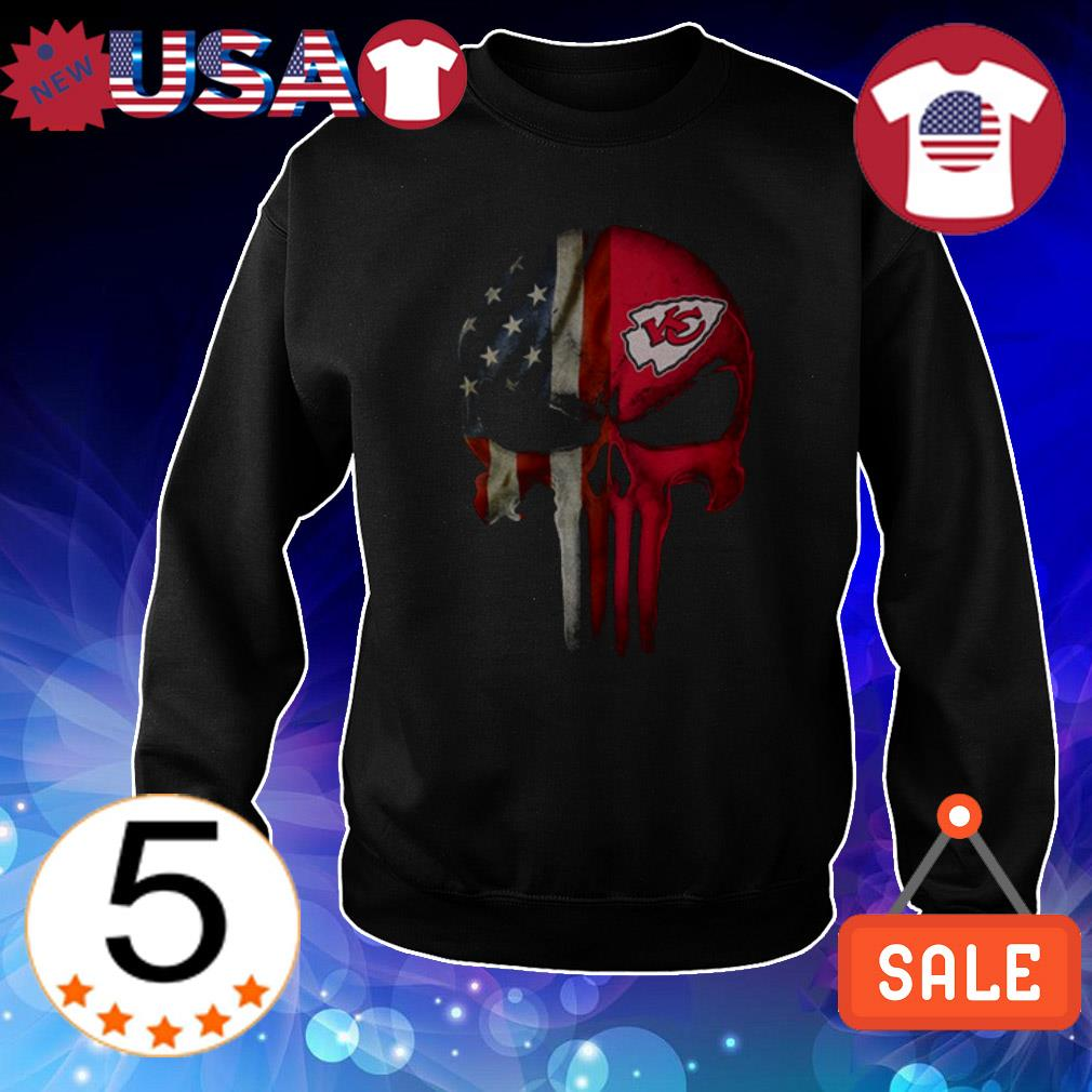 4th of july independence day Kansas City Chiefs skull shirt