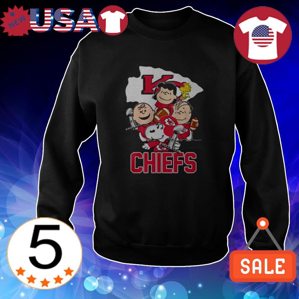 The Peanuts Snoopy and friends Kansas City Chiefs shirt