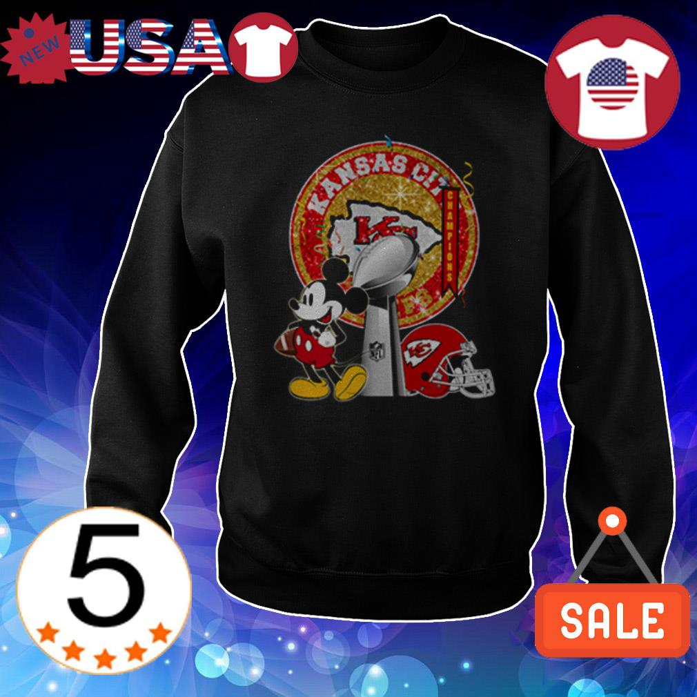 Mickey Mouse and Kansas City Chiefs shirt