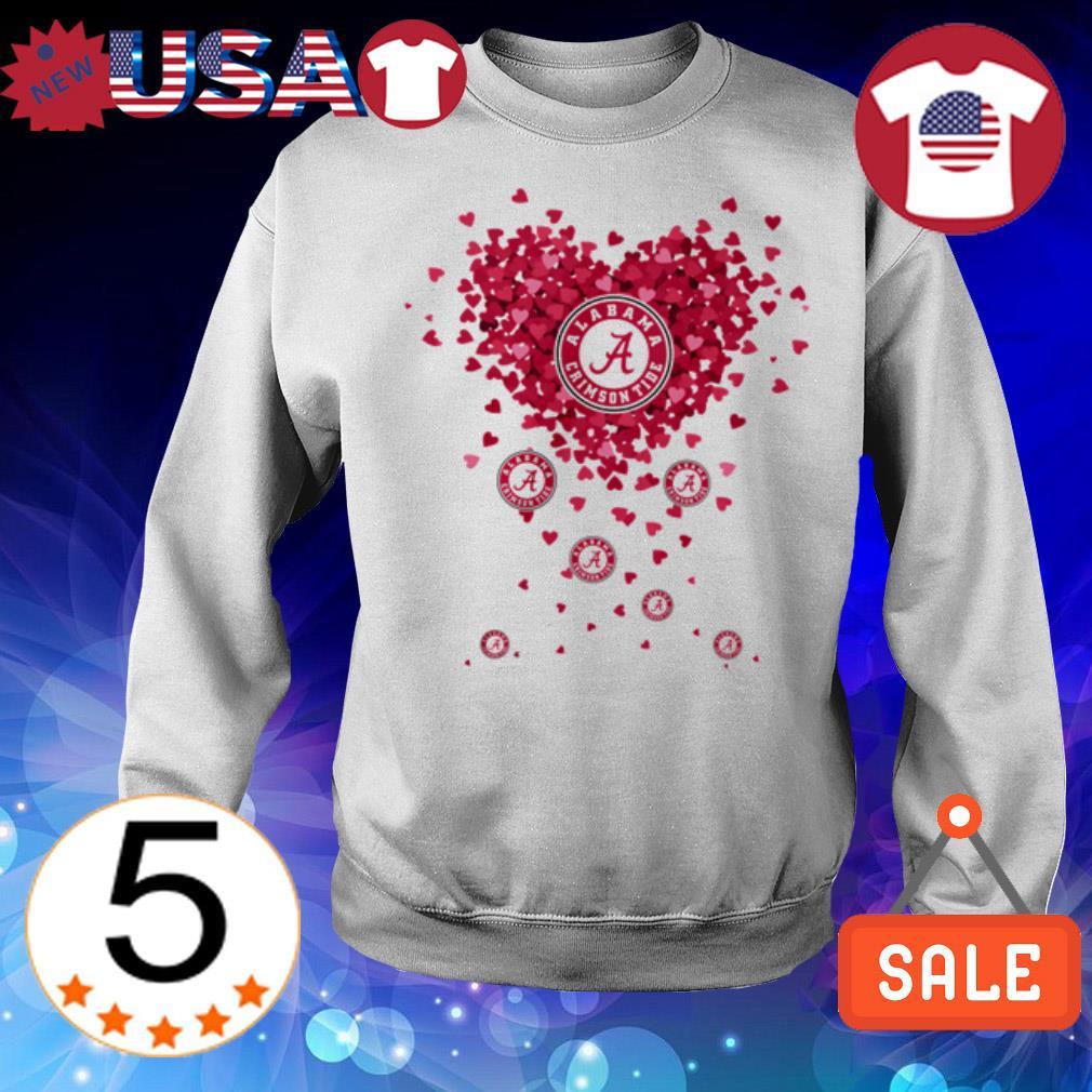 Alabama Crimson Tide heart shirt