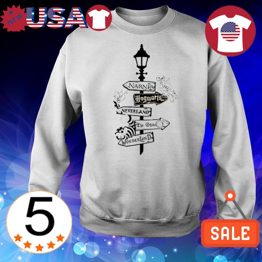 Narda Hogwarts Neverland Wonderland shirt
