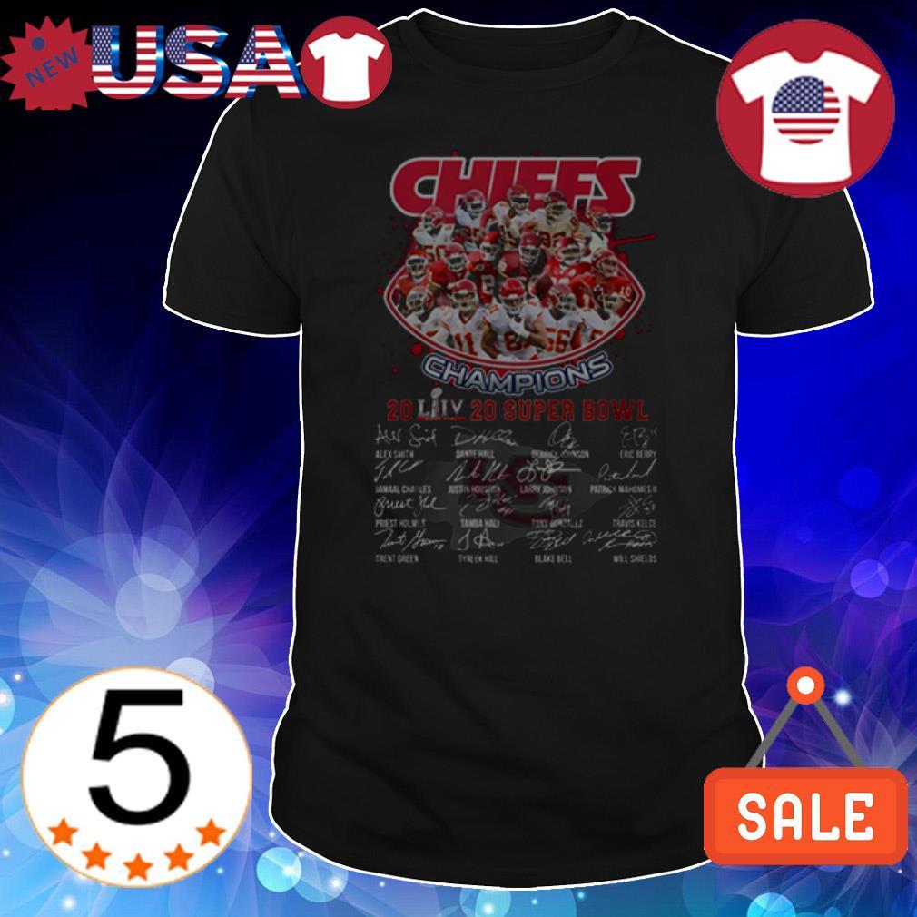 Kansas City Chiefs 2020 Super Bowl Champions signatures shirt