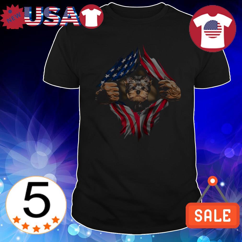 Yorkshire Terrier American Flag shirt