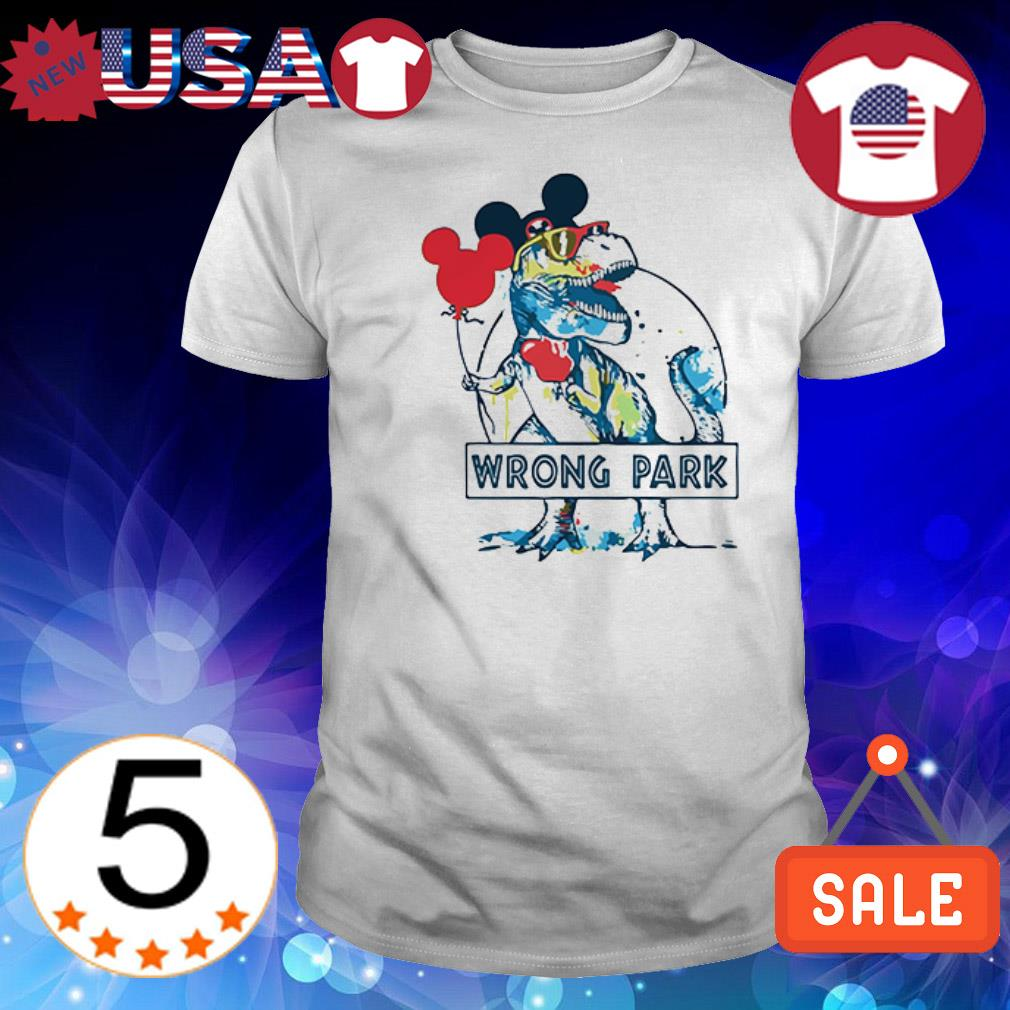 Dinosaur T Rex Mickey Mouse Ear wrong park shirt