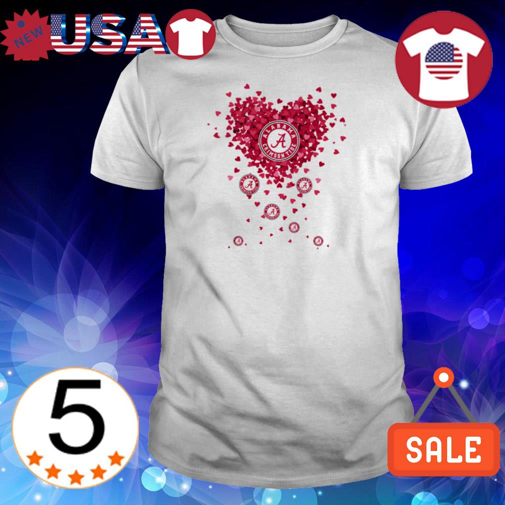 Alabama Crimson Tide heart shirt