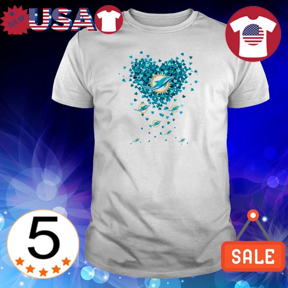 Miami Dolphins heart shirt