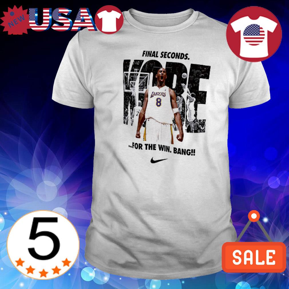 Nike Kobe Bryant Los Angeles Lakers Final Second For The Win shirt