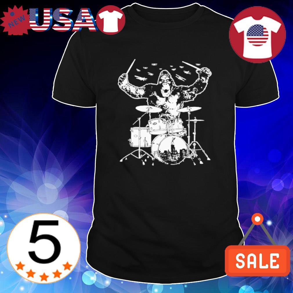 Bigfoot playing drum shirt