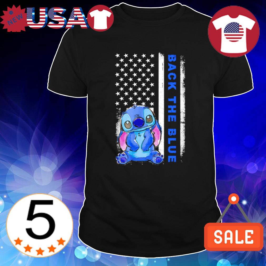 Stitch American flag Back the blue shirt
