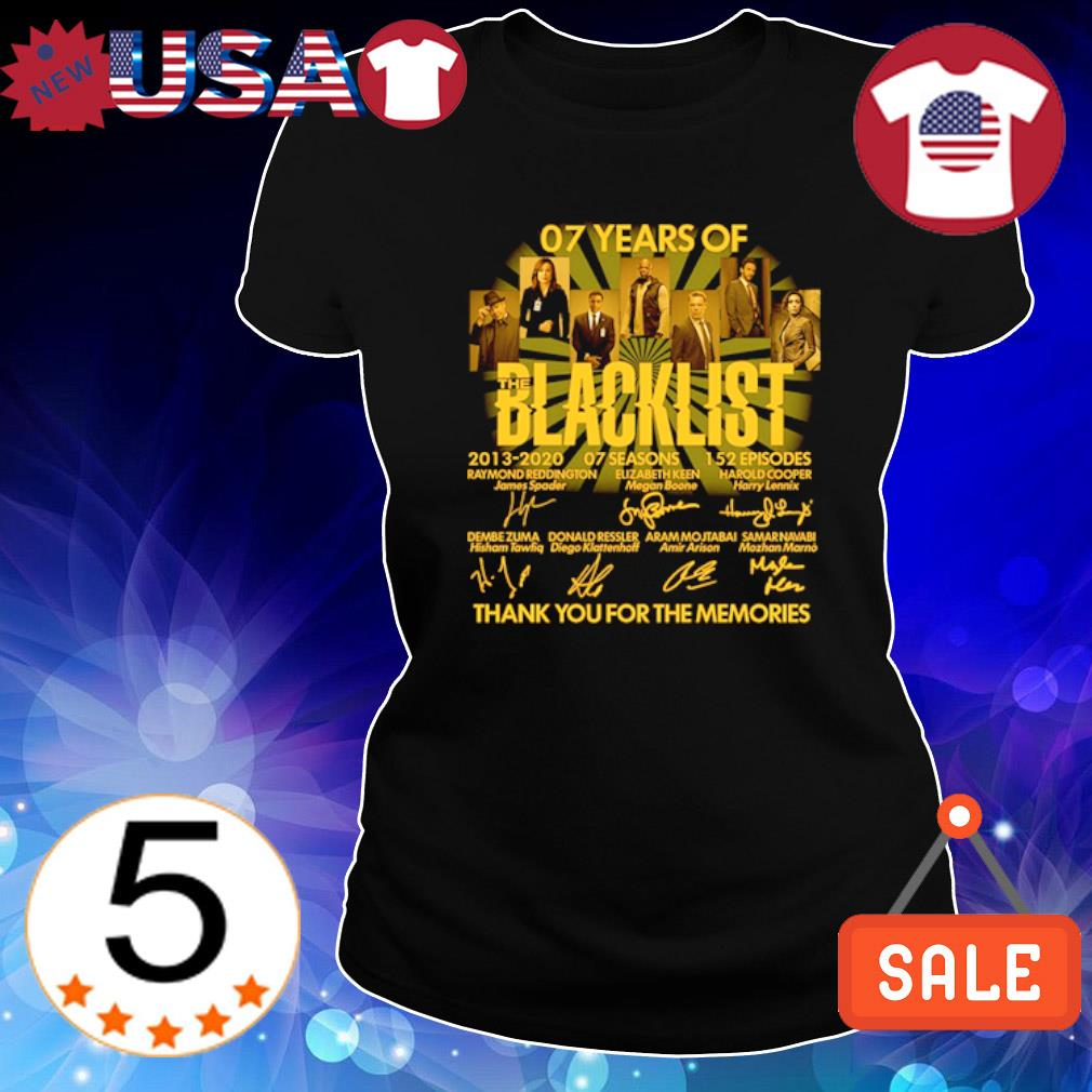 07 years of Blacklist thank you for the memories signature s Ladies Tee-Black