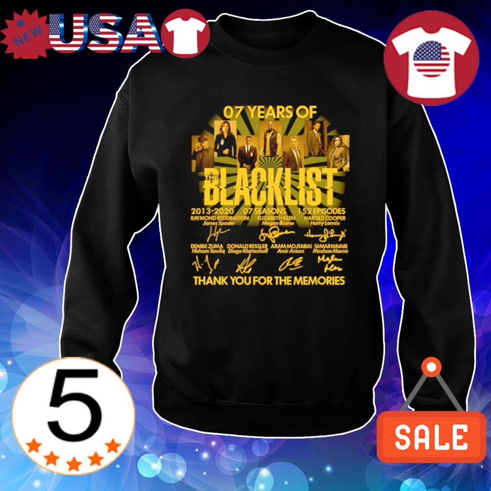 07 years of Blacklist thank you for the memories signature s Sweater Black
