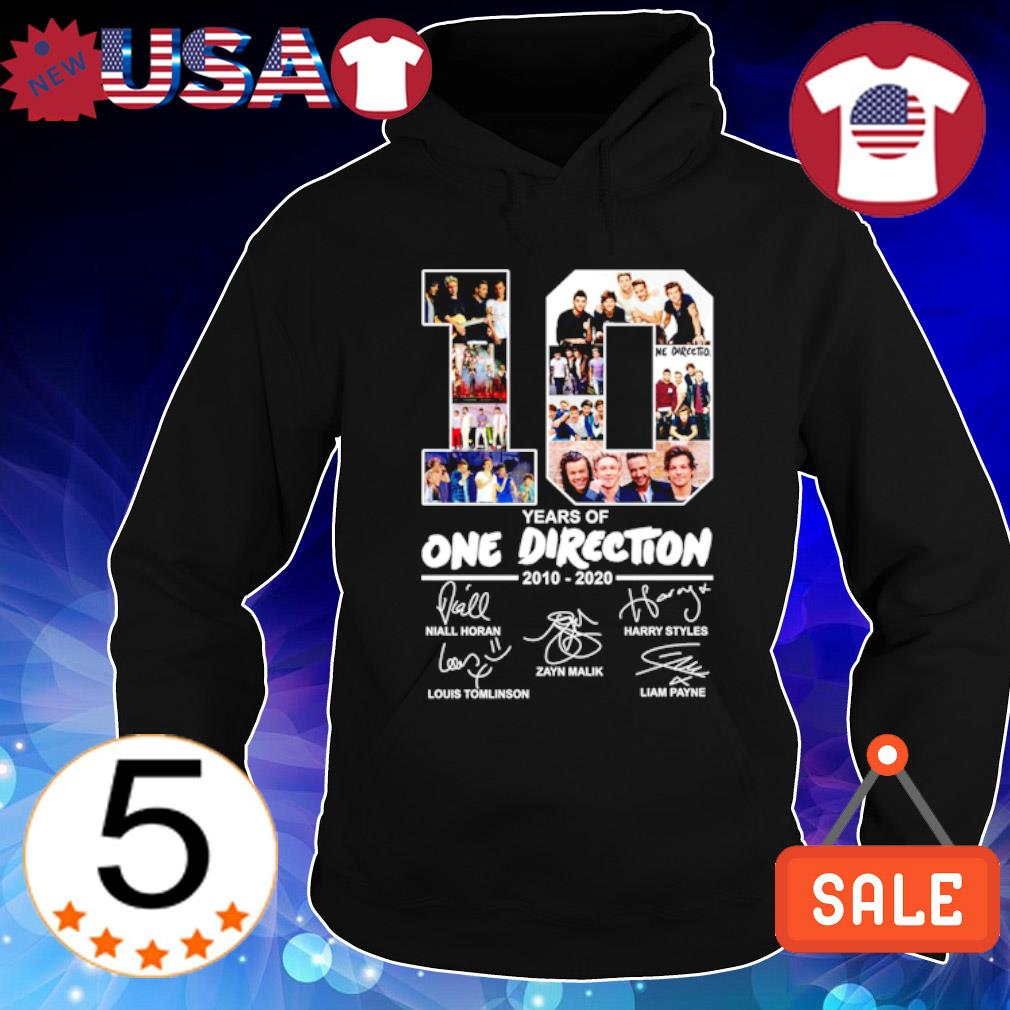 10 years of One Direction 2010 2020 signature s Hoodie Black