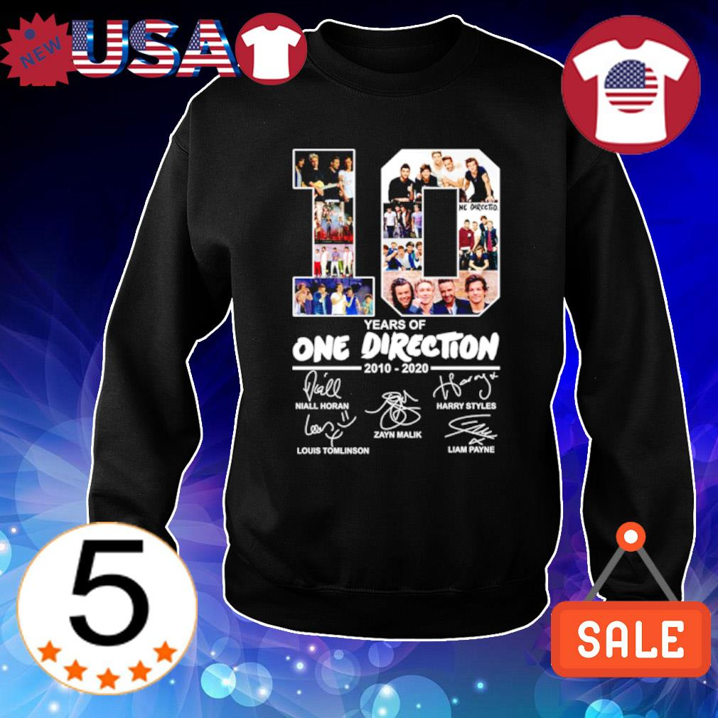 10 years of One Direction 2010 2020 signature s Sweater Black