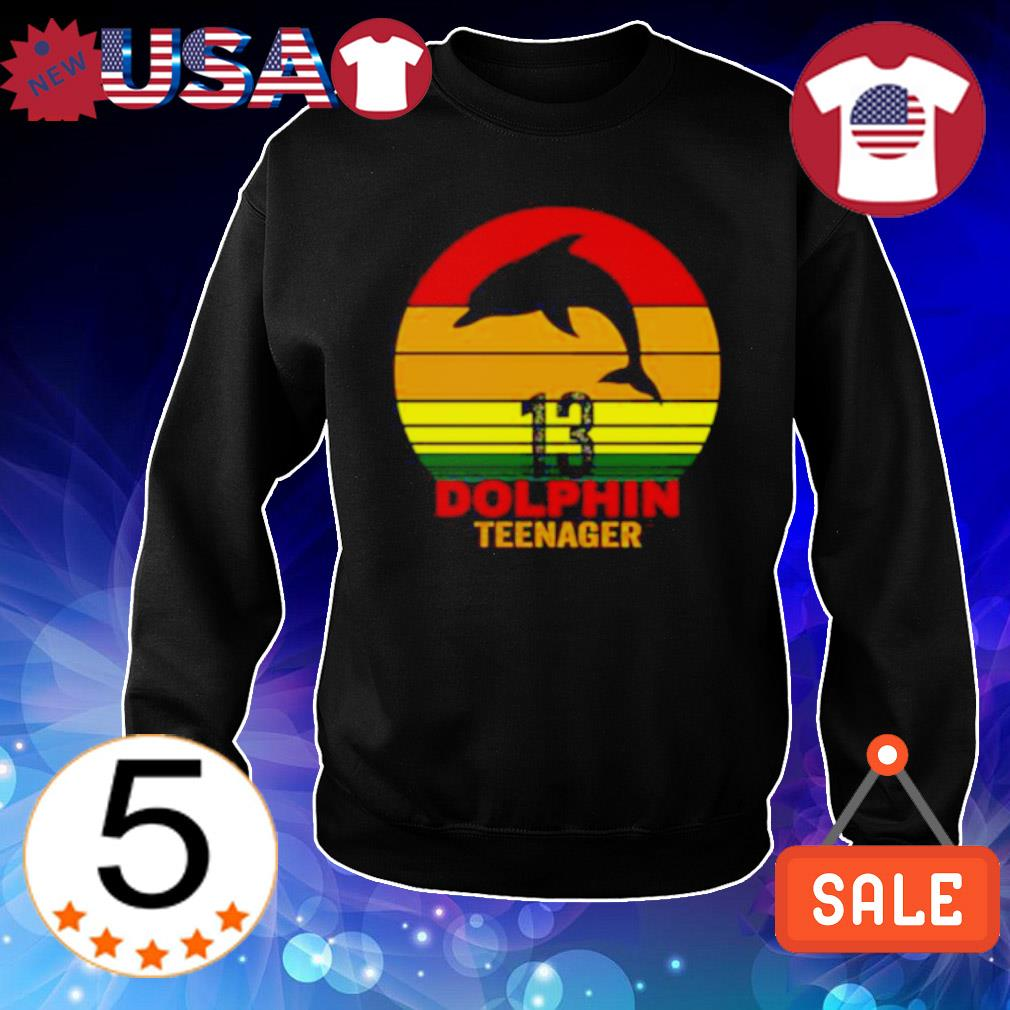 13 Dolphin teenager vintage s Sweater Black