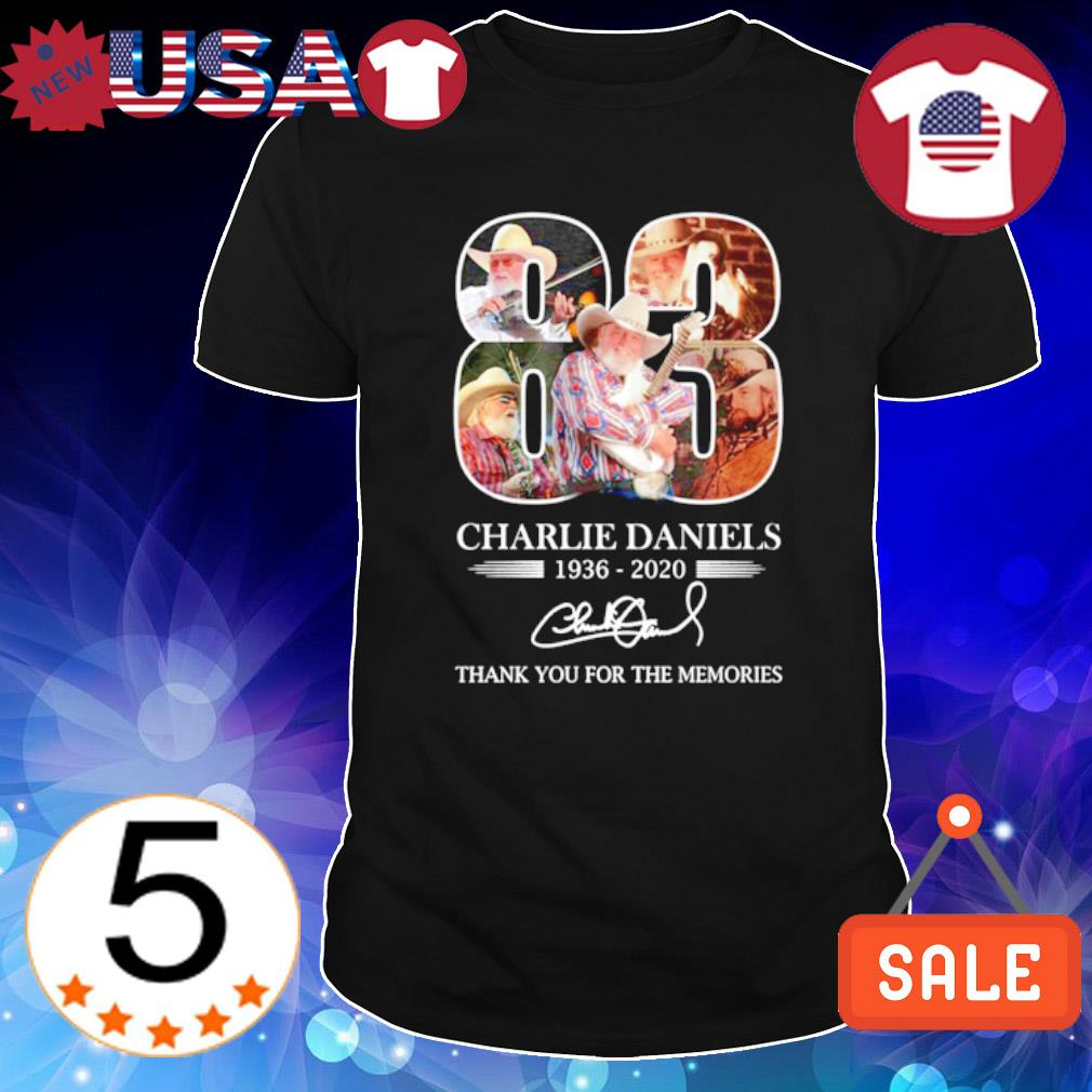 83 years of Charlie Daniels 1936 2020 thank you for the memories shirt