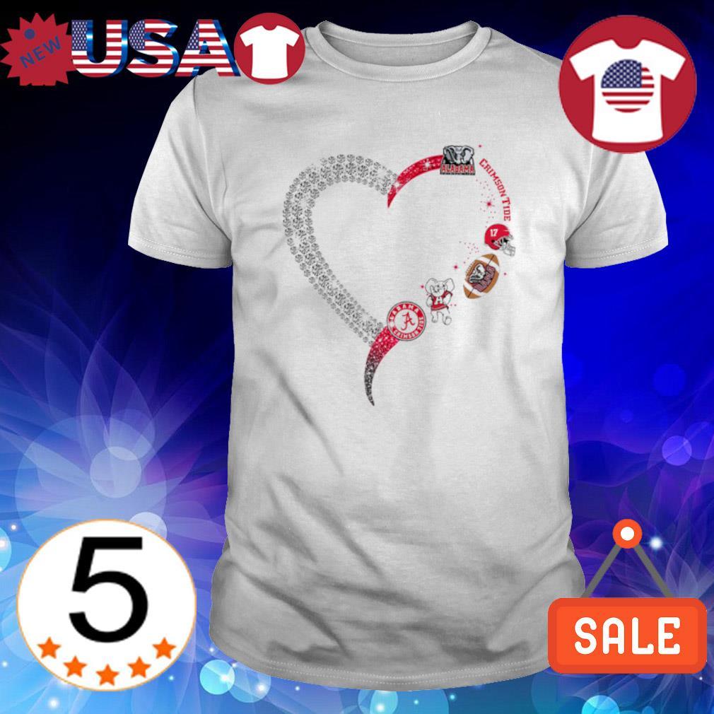 Diamond heart Alabama Crimson Tide shirt
