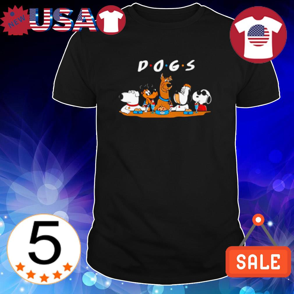 Friends Scooby-Doo Snoopy dogs shirt