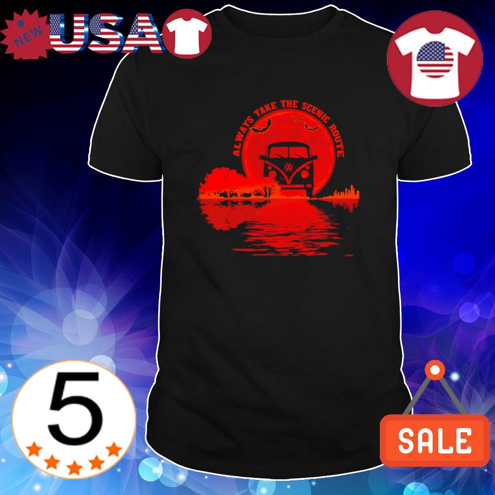 Guitar Natural always take the scenic route Halloween shirt
