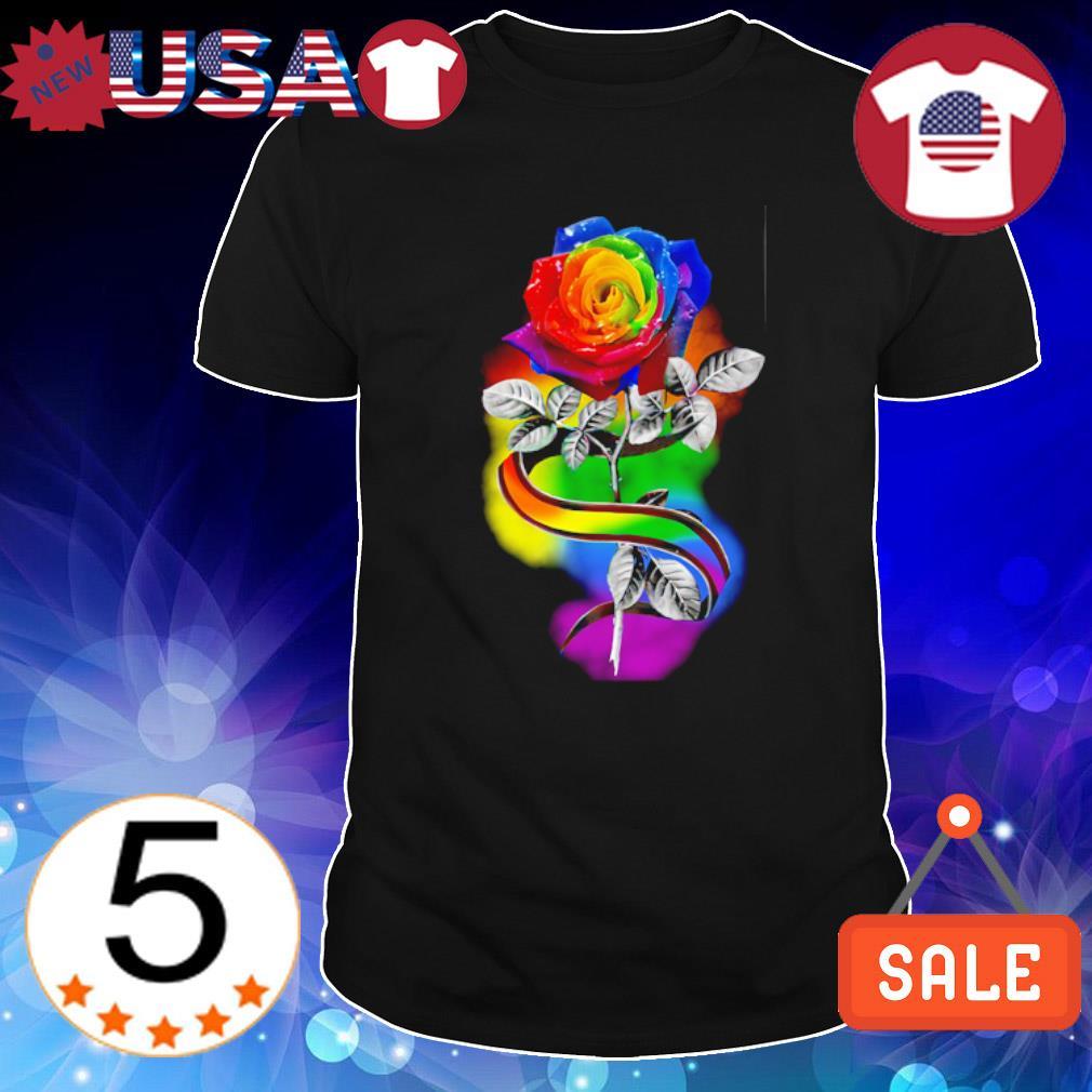 LGBT rose Love is love shirt