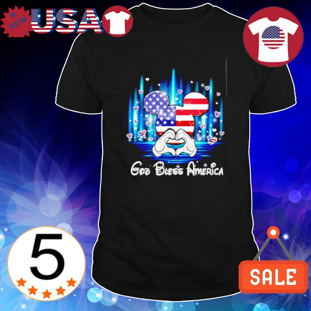 Mickey mouse God bless America Independence day shirt