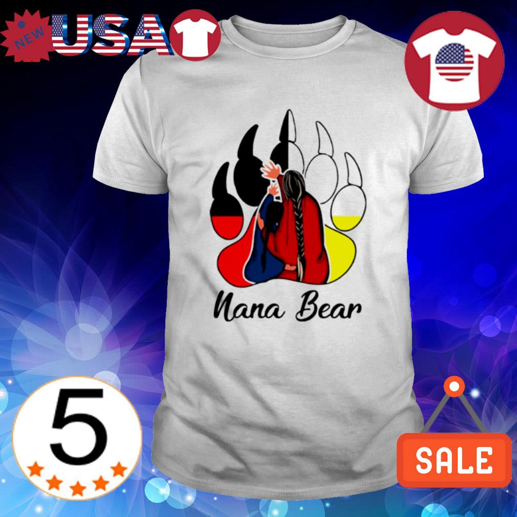 Native American bear paw Nana Bear shirt