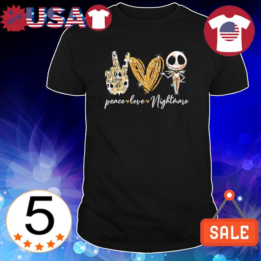 Peace love Nightmare Jack Skellington shirt