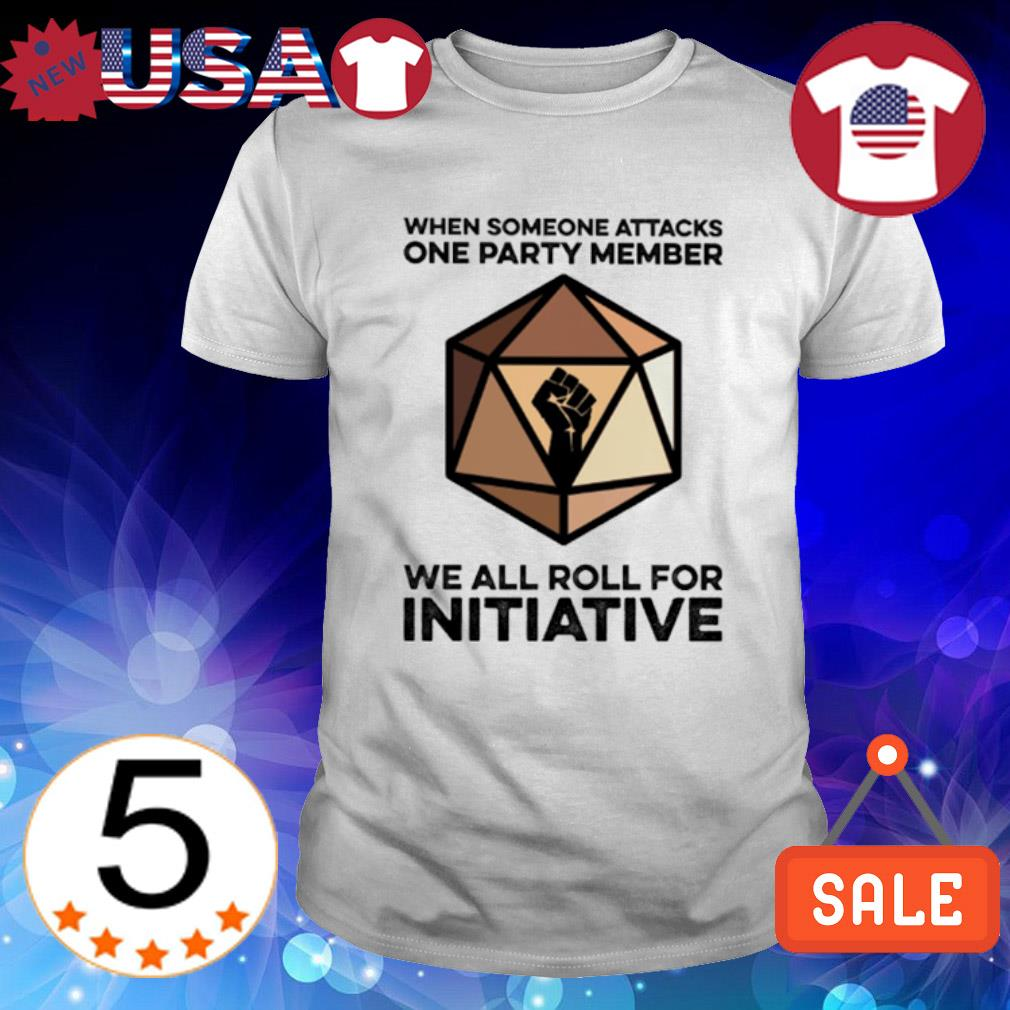 We someone attacks one party member we all roll for initiative shirt
