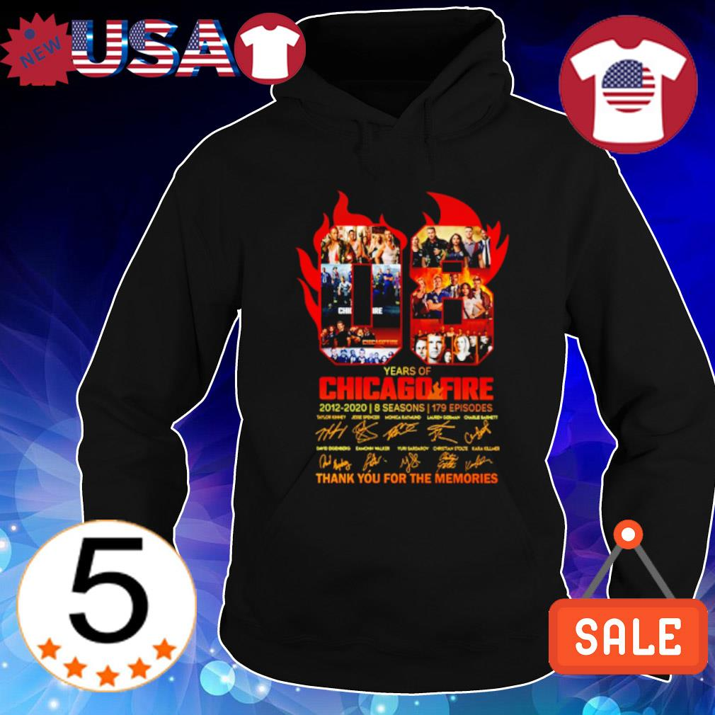 08 years of Chicago Fire 2012 2020 thank you for the memories s Hoodie Black