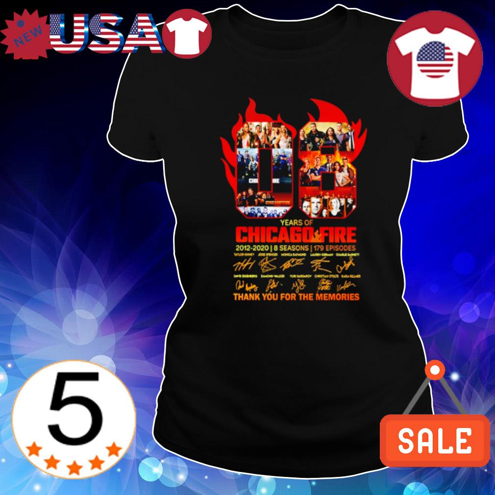 08 years of Chicago Fire 2012 2020 thank you for the memories s Ladies Tee-Black