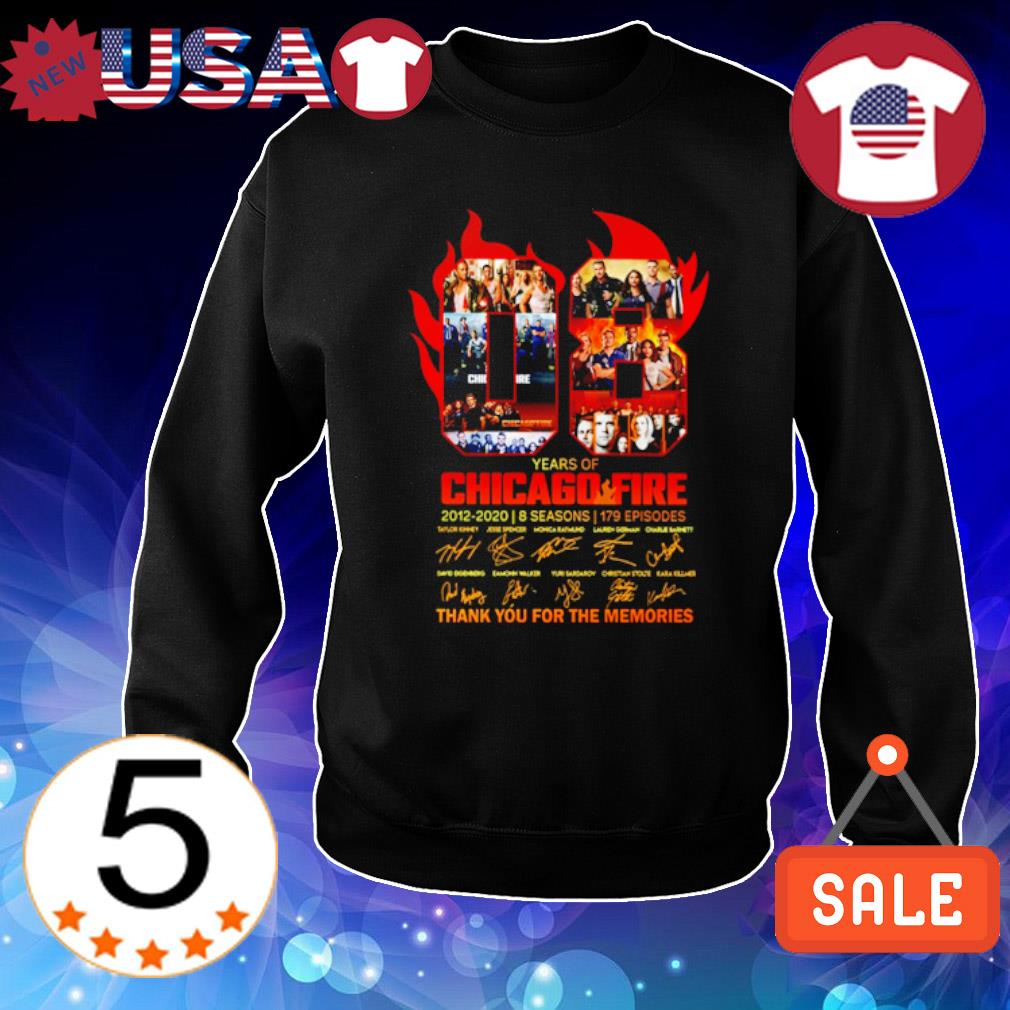 08 years of Chicago Fire 2012 2020 thank you for the memories s Sweater Black