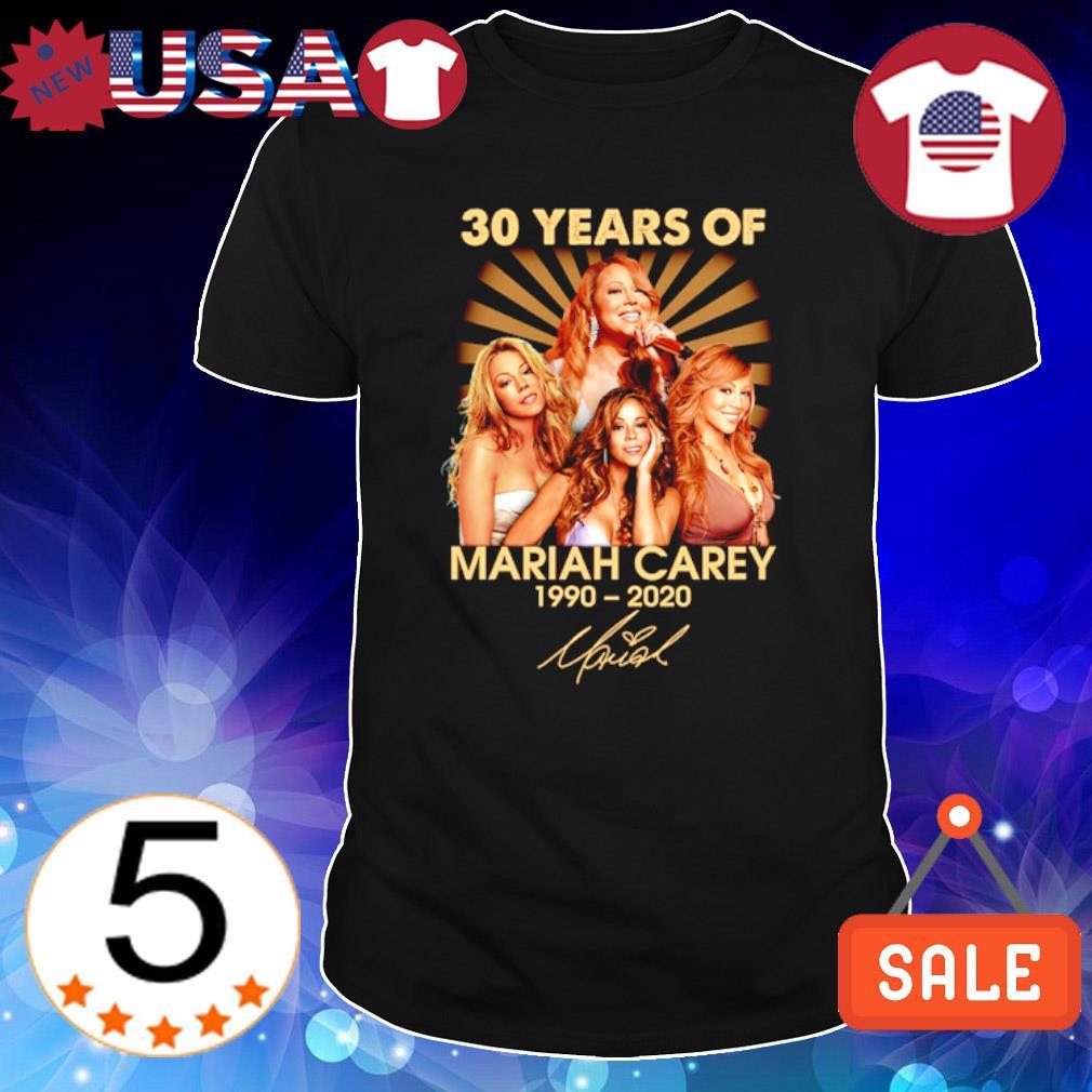 30 years of Mariah Carey 1990 2020 signature shirt