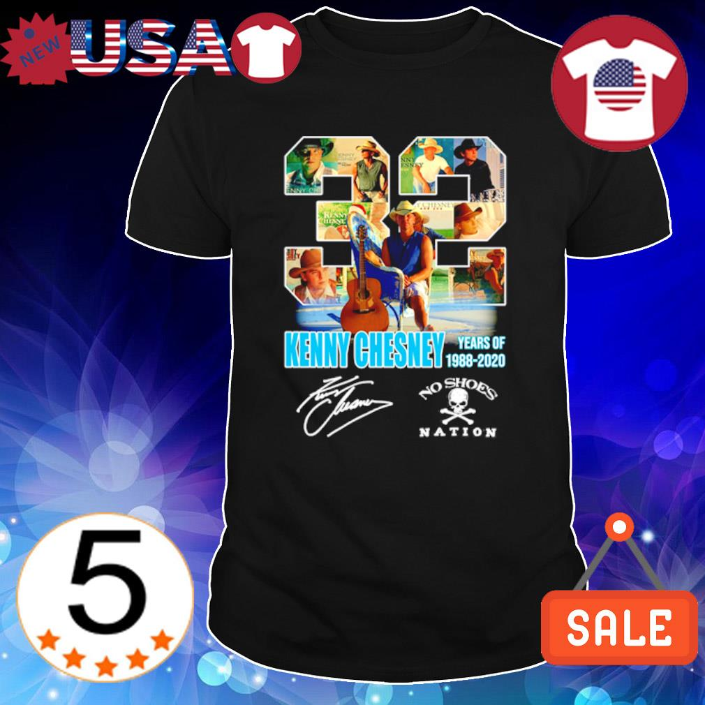 32 Years of Kenny Chesney 1988 2020 signature shirt