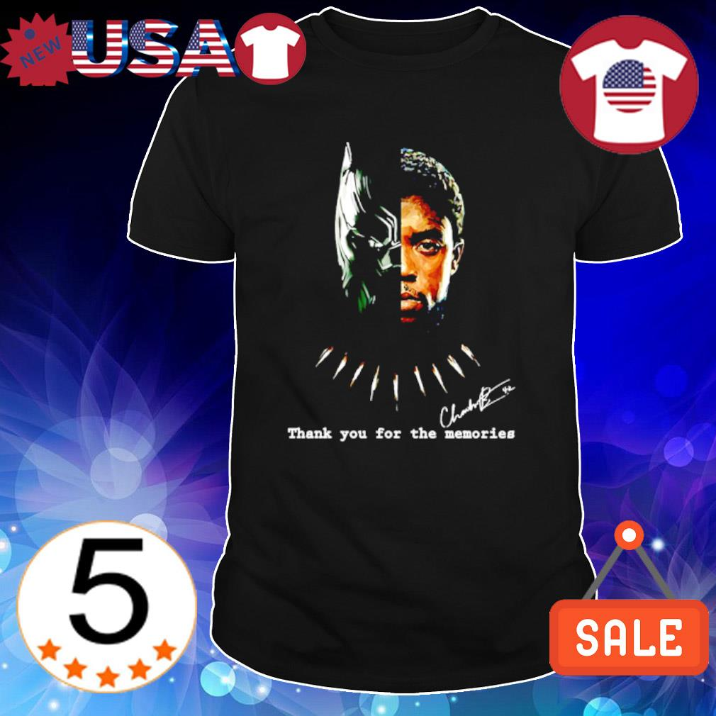 Black Panther Chadwick Boseman thank you for the memories signature shirt
